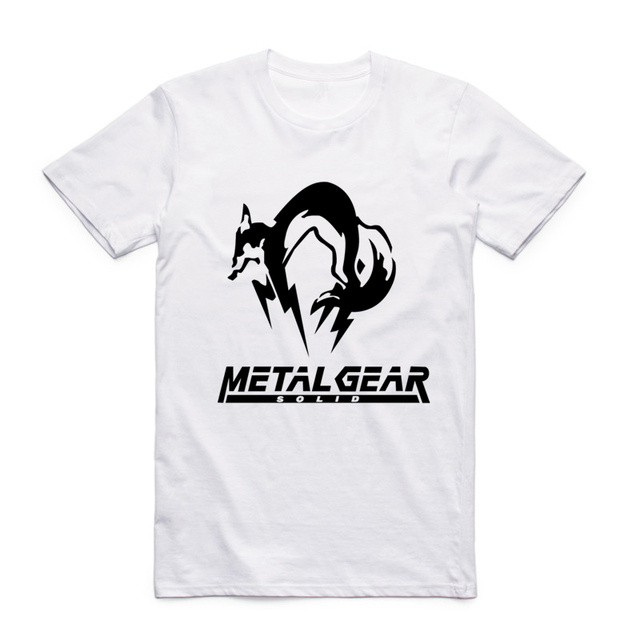 cde990a26ca16 S-XXX Men print Metal Gear Solid MGS snake fox hound White T-shirt Short  sleeve O-Neck Camisetas Masculina Tshirt