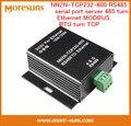 Rápido Envío Gratis 2 UNIDS NNZN-TCP232-600 servidor de puerto serie 485 turno Ethernet MODBUS RTU RS485 convertir TCP