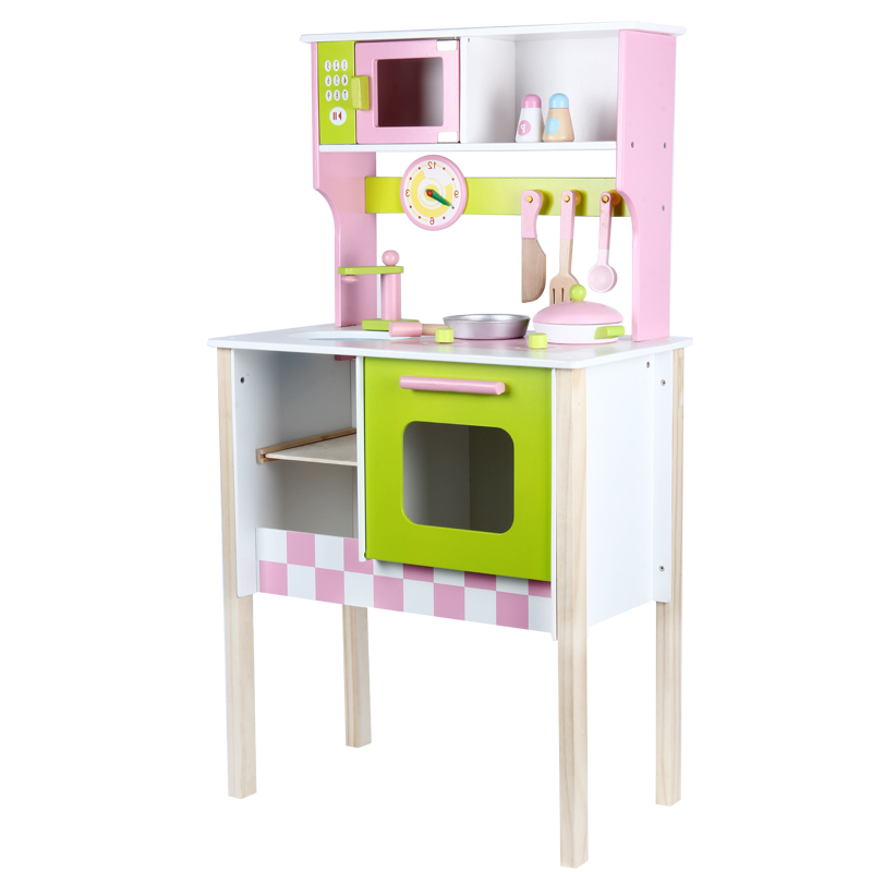 wood kitchen playsets wall mounted cabinets toy kids cooking pretend play set toddler wooden playset gift in toys from hobbies on aliexpress com alibaba group