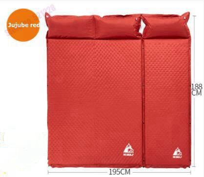 Hewolf 3 Person Thick 5cm Automatic Inflatable Mattress Beach Cushion Anti Moisture Pad Hking Picnic Car Outdoor Camping Mat mattress