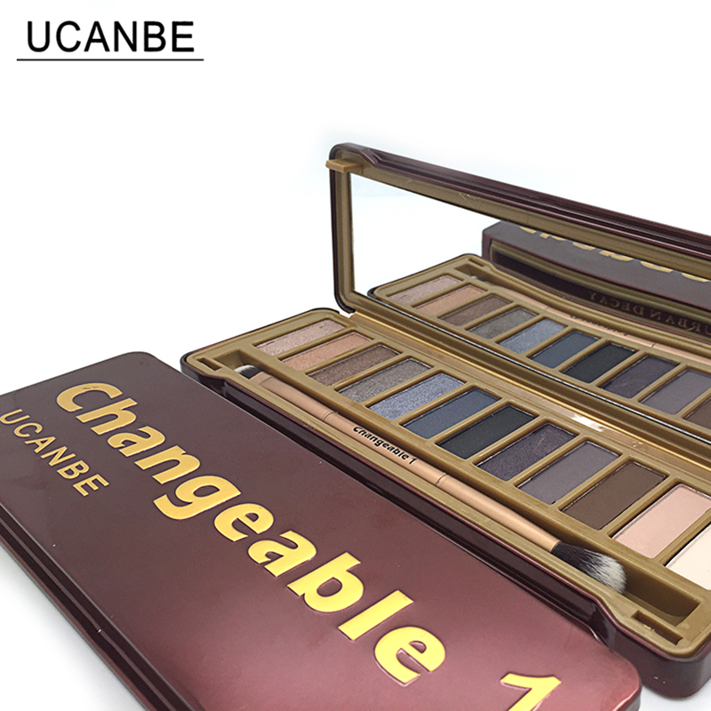 UCANBE Brand Naked Makeup Changeble 1 Eye Shadow Palette 12 Colors Smoky Eyeshadow with Brush Matte Cosmetics Make up Set on Aliexpress.com | Alibaba Group