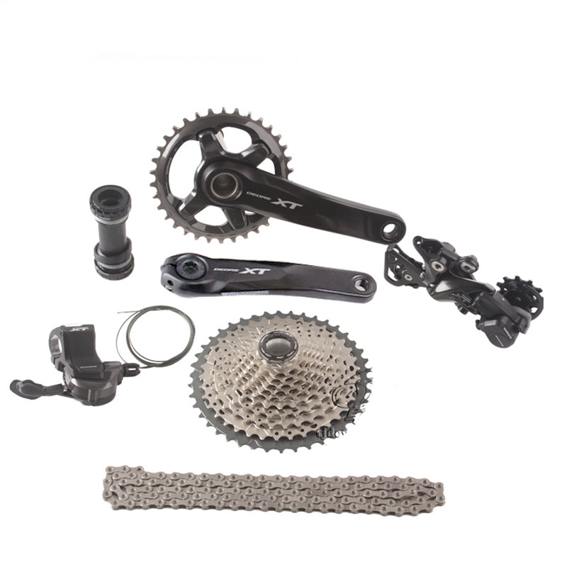 SHIMANO DEORE XT M8000 1x11 Speed 11-40T 11-42T 11-46T MTB Groupset Bicycle Kit Shifter Lever/ Rear Dearilleur /Cassette / Chain shimano slx m7000 groupset 1x11 11s speed 11 42t 11 46t m7000 mtb bike shift lever rear dearilleur cassette chain cranset