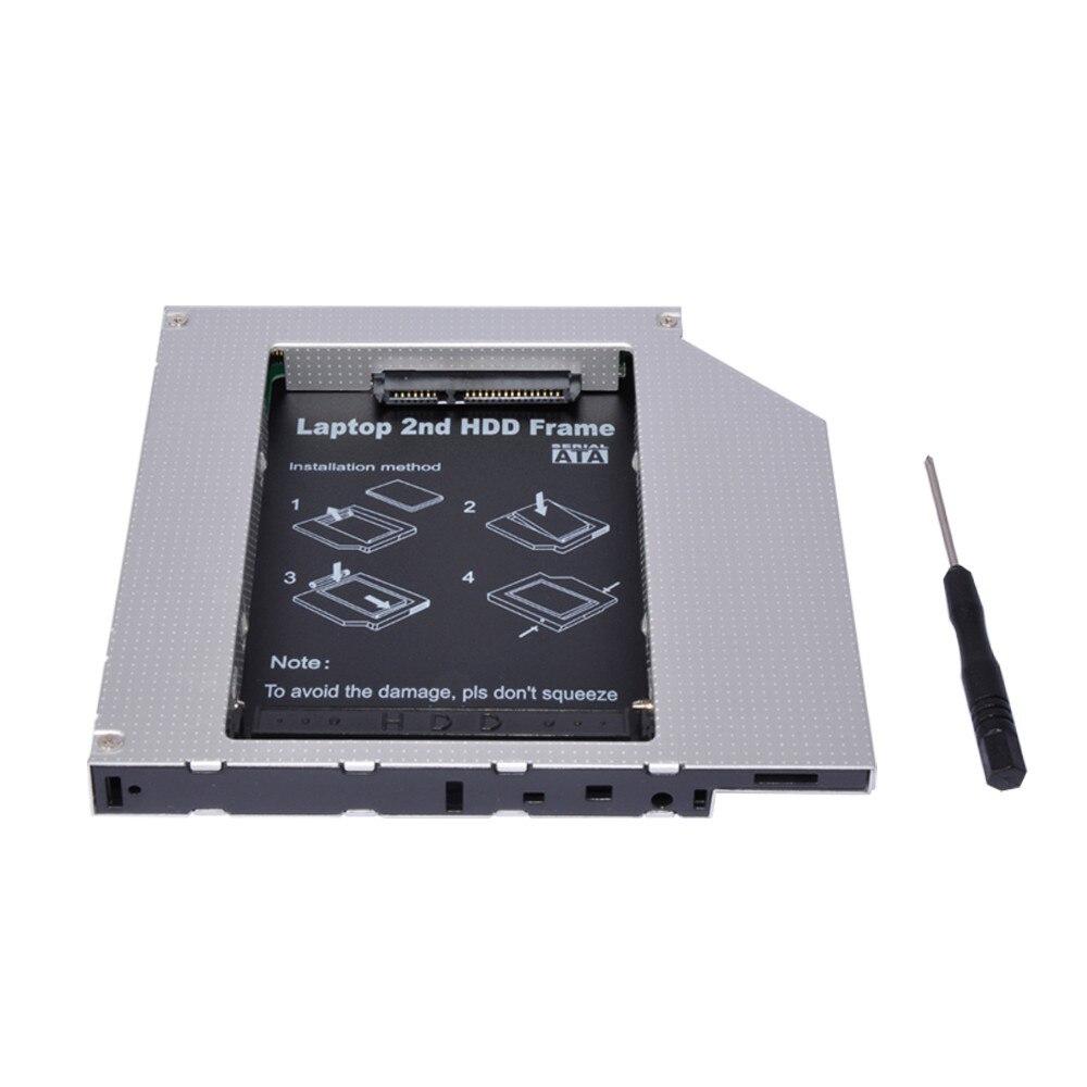 Nuevo 12.7mm aleación de aluminio universal 2nd HDD Caddy IDE a SATA ...
