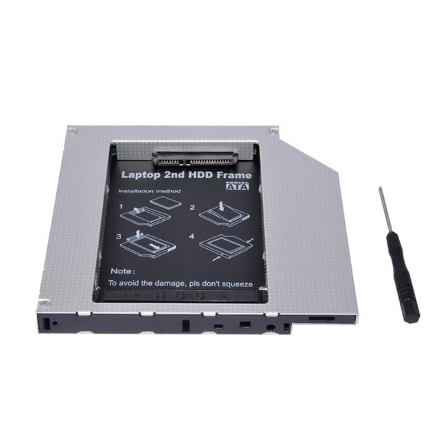 "Sunvalley 12.7mm uniwersalny stop aluminium 2. HDD Caddy IDE do SATA 2.5 ""HDD obudowa na SSD DVD/CD-ROM wnęka na napęd optyczny do laptopa"