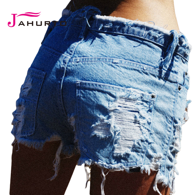 Jahurto Summer Shorts Women Jeans 2016 Fashion Ripped Hot Sexy Shorts High Waisted Denim Shorts Women Shorts