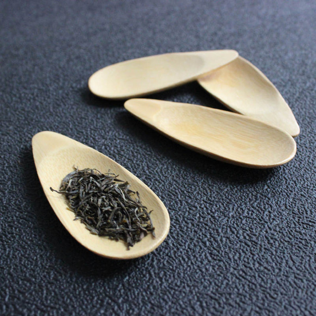 Cute Melon Seed Shape Drop-shaped Handmade Mini Bamboo Tea Scoops Kung Fu Tea Spoon Black Green Tea Shovel Gift For Friends 1PC