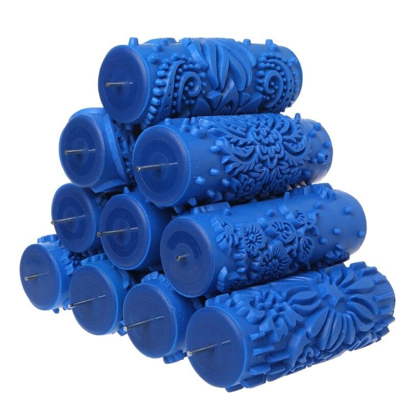 7 Inch Behang Decoratie Patroon Roller Reliëf Verf Mouw Muur Textuur Stencil Borstel 3D Patroon Decor Schilderen Machine