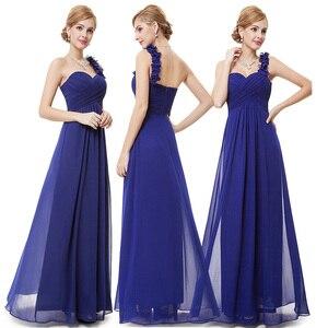 Image 4 - ブルゴーニュウエディングドレス以来きれいな女性の 2020 格安aラインシフォンロイヤルブルーロング新婦のドレスウェディングパーティー