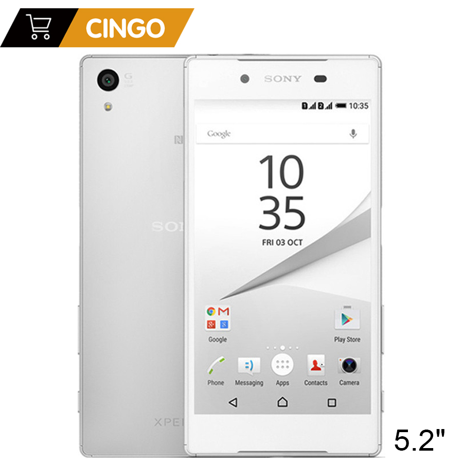 Xperia Sony Z5 E6683 Original Desbloqueado Telefone Celular 4G LTE Dupla Sim Android Octa Núcleo 3 GB RAM 32 GB ROM 5.2 Polegada 23MP câmera