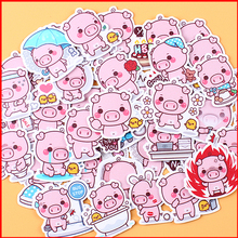 40 pcs Animal pink big personalized scrapbook Stickers scrapbooking material sticker happy planner decoration craft
