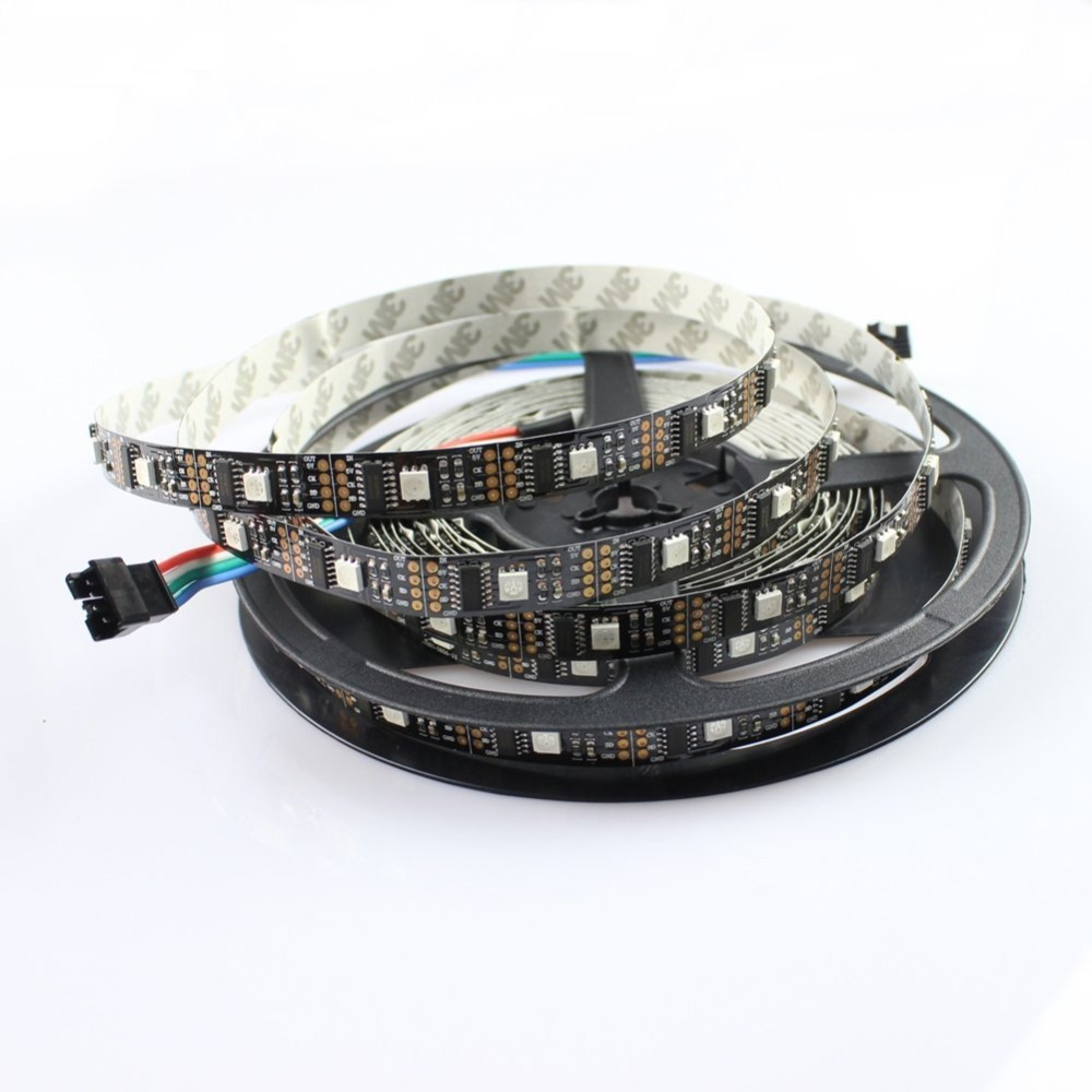 Non-waterproof Digital RGB LED Strip 5050 SMD DC5V LED Pixel Strip WS2801 30LedS 30IC/M 20m/lot WS2801 LED tape light