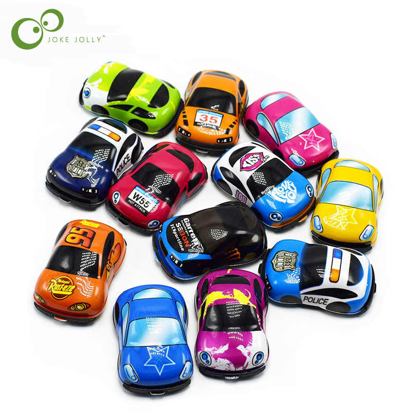 10pcs/lot Baby Toys Cute Plastic Pull Back Cars Toy Cars for Child Wheels Mini Car Model Funny Kids Toys for Boys GYH