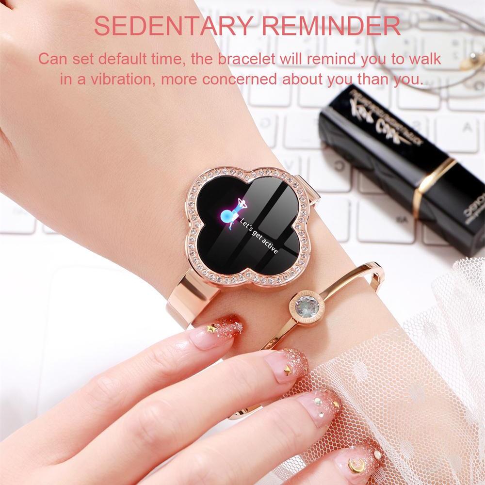 MNWT S6 montre intelligente étanche femmes moniteur de fréquence cardiaque pression artérielle Tracker Fitness Smartwatch Sport montre pour ios android - 5