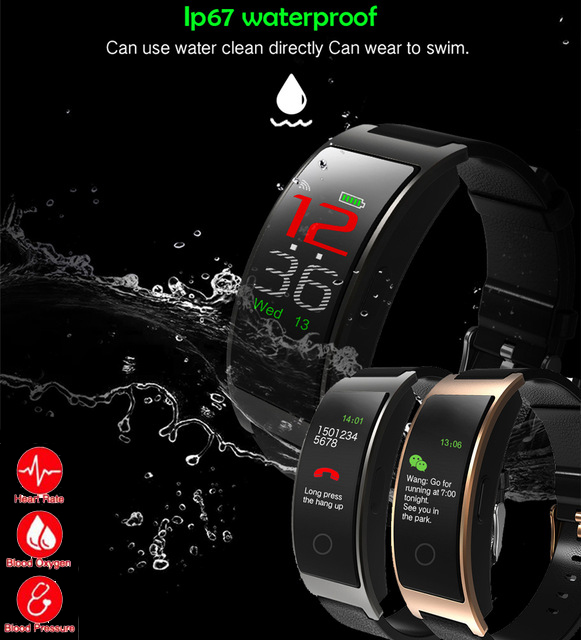 2018 CK11C Smart Bracelet band blood pressure Heart Rate Tracker Passometer CK11S Sport Fitness Bluetooth Smart Wristband