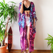 Beach Dress Kaftan Pareo Sarongs Sexy Cover-Up Chiffon Bikini Swimwear Tunic Swimsuit Bathing Suit Cover Ups Robe De Plage #Q647