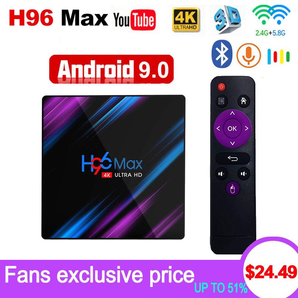 Android 9.0 TV Box H96 Max Rockchip RK3318 4K Smart TV Box 2.4G&5G Wifi BT4.0 H96Max 4GB 64GB Media Player Android Set Top BoxAndroid 9.0 TV Box H96 Max Rockchip RK3318 4K Smart TV Box 2.4G&5G Wifi BT4.0 H96Max 4GB 64GB Media Player Android Set Top Box