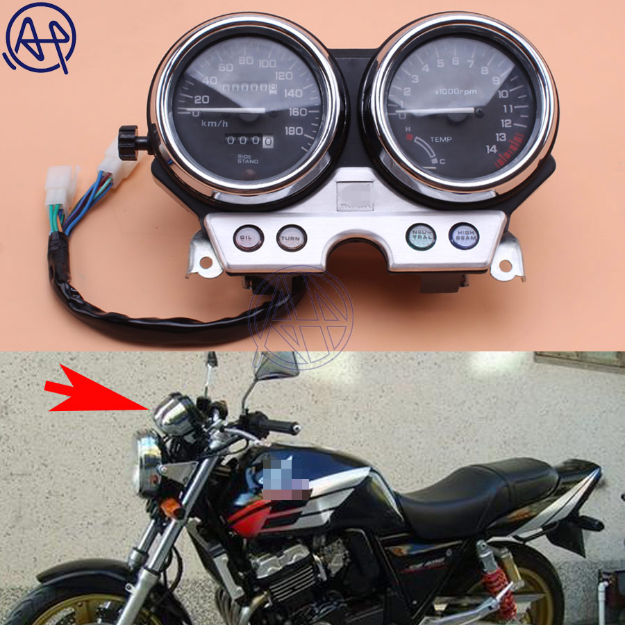 For honda CB400 1992 1993 1994 CB 400 Motorcycle Gauges Speedometer Tachometer Odometer Cluster KM/H RPM Instrument Assembly 1pc