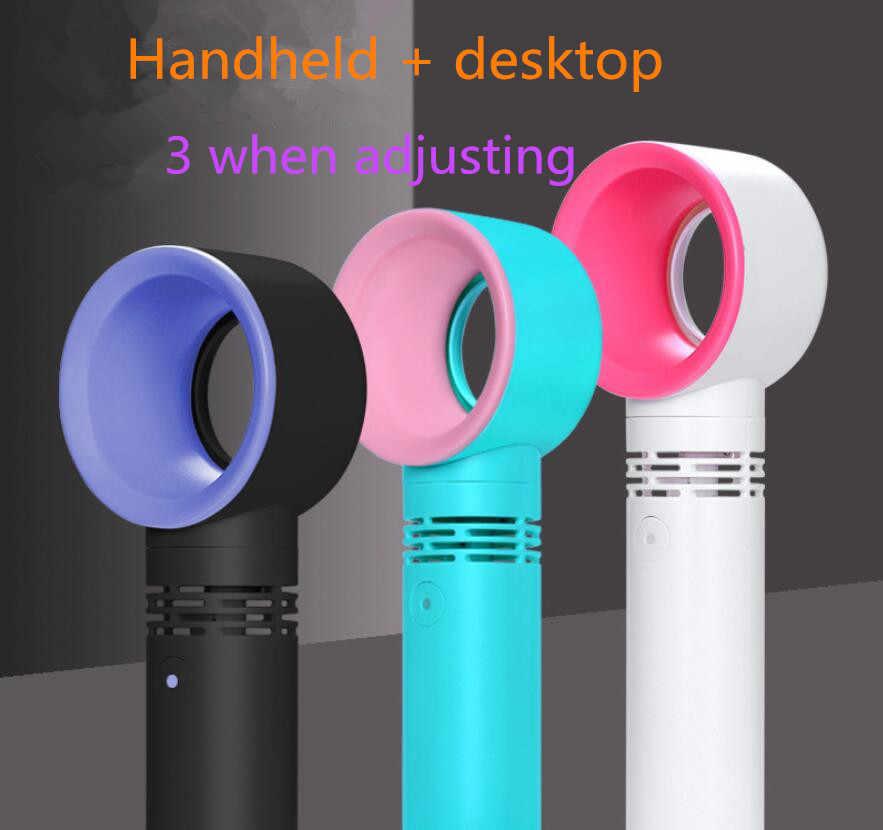 Yeni elektrikli taşınabilir el mini soğutucu fan usb fan ventilatör bladeless fan hava soğutucu recheargeable taşınabilir soğutucu el