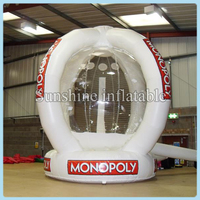 2014 hot sale market promotion inflatable catch money machine, cash machine ,Inflatable money booth for event
