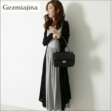 Pregnancy Dress Clothes Pregnant Women Spring Autumn Maternity Casual Dress Pregnant Two-piece Suit Dresses Cardigan + Dress