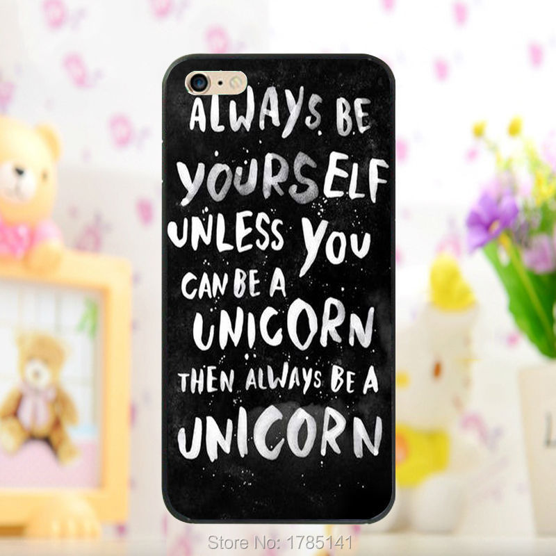 1pcs Always be a unicorn then always be a unicorn hard black Skin Case for iphone 5 5s 4 4g 4S 5c Retail