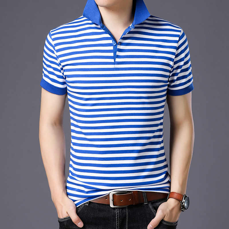 England Style Striped 2019 Brand Fashion Polo Shirts Short Sleeve Men Summer Cotton Breathable Tops Tee ASIAN SIZE M-5XL 6XL