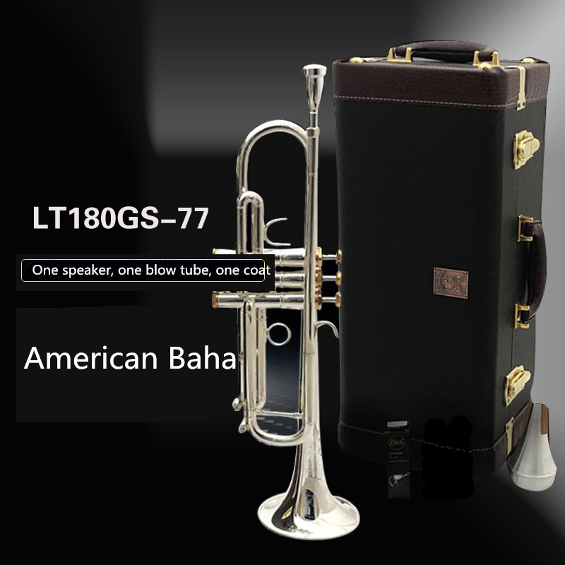 Trumpet Bach LT 180GS77 B Flat Silver plating professional trumpet bell Top musical instruments Brass High Quality performance