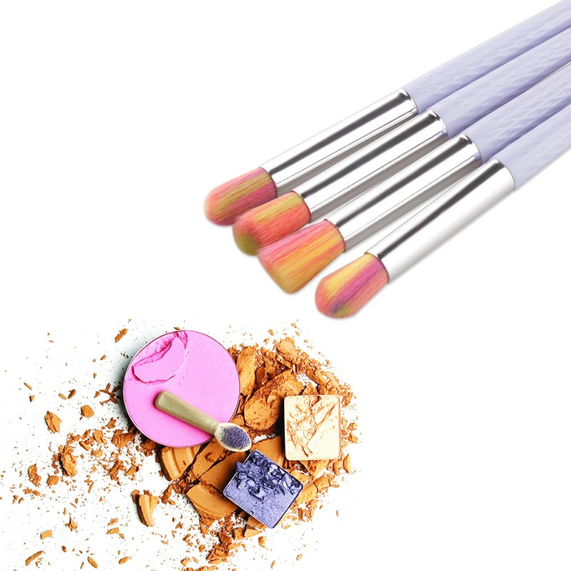 4/6PCS Beauty Eyes Make Up Powder Eye Shadow Blush Cosmetic Concealer Thin Long Handle Brushes Makeups Tools