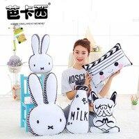 40CM 65CM Rabbit Face Plush Pillow Dog Milk Bottle Plush Cushion Emoji Pillow Chair Cushion Home
