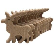 Лося деревянная подвеска-прорезыватель дерево в форме оленя Прорезыватель животное деревянное игрушка пустышка Клип подвеска Детская Подвеска по тематике «тренажерный зал» игрушка для прорезывания зубов