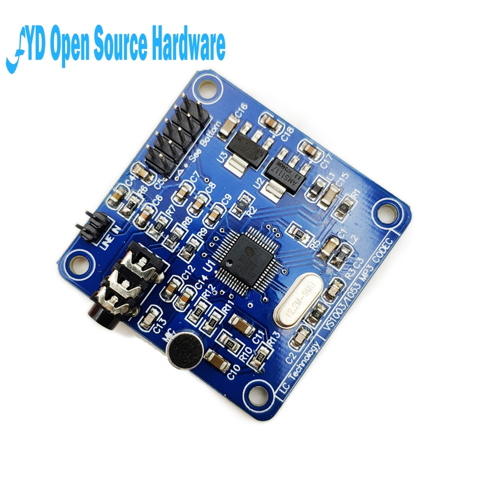 1pcs VS1003B VS1053 MP3 Module Development Board Onboard recording function image