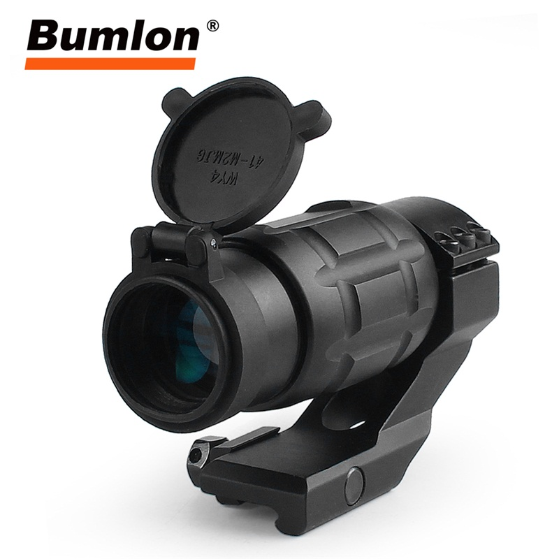 Tactical 3x25MM Magnifier Riflescope Optics Rifle Scope Focus Adjusted fit 20MM Rail Protect Cover for Airsoft Hunting RL6-0069 tactical hunting 5x magnification periscope rifle scope for airsoft hunting shooting rl6 0013