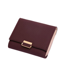 Female Wallet New Leather Women Long Purse Plaid Ladies Hot Change Card Holder Coin Small Purses For Girls