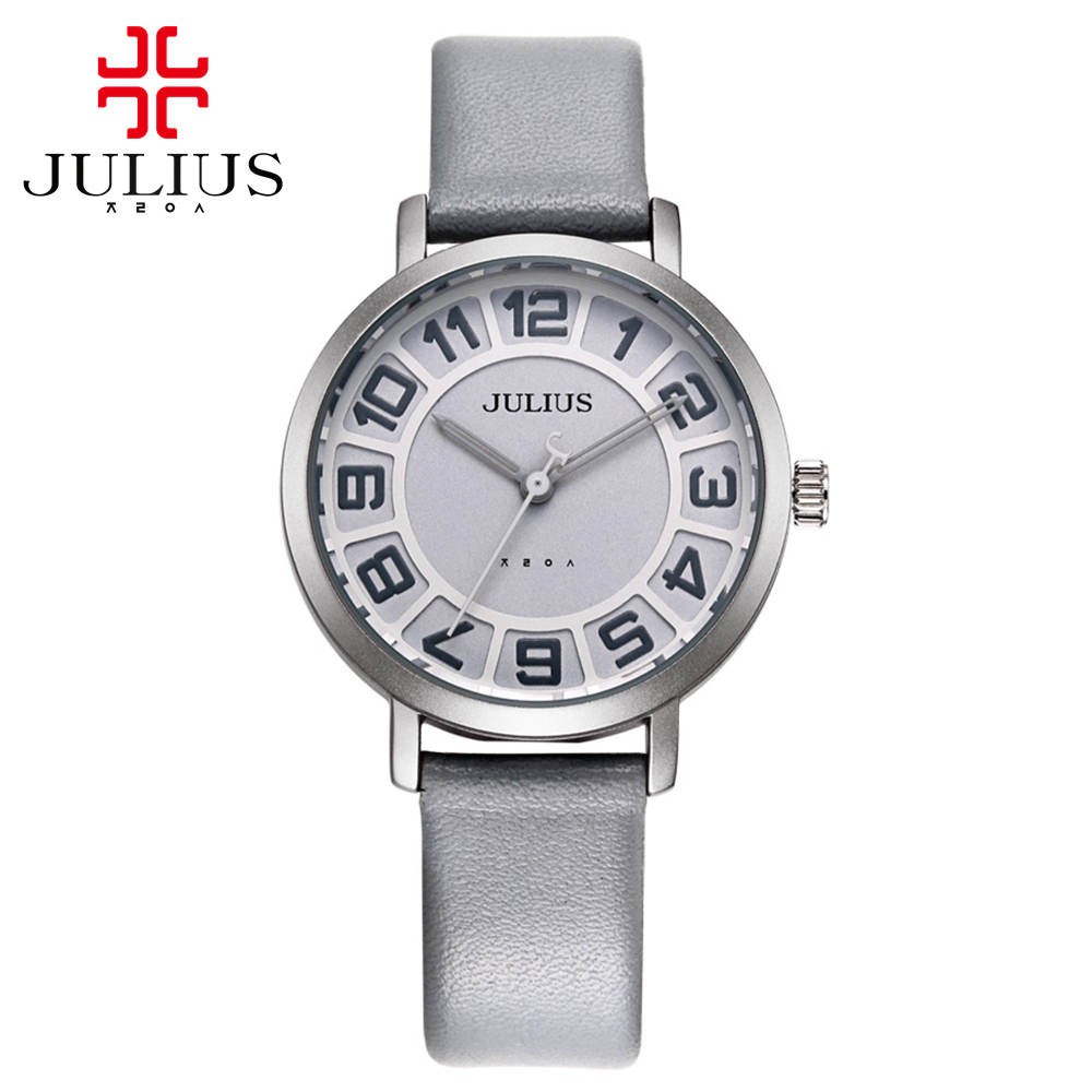 New women sports style fashion casual quartz good quality watch Female round charming leather wristwatches Luxury
