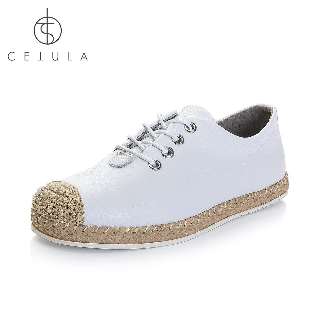 Cetula 2018 S / S Handgjorda Lace Up Women Smooth Calf Leather Linned - Damskor - Foto 2