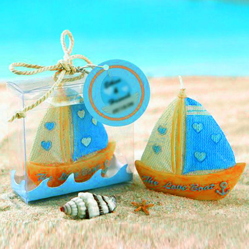 2017 Handmade Sailing Boat Shape Candle Gum Resin For Wedding Party Romantic Expressing Love Home Decoration Candles velas Gift