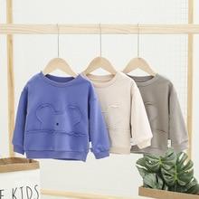 Новое поступление свитеров для маленьких девочек весенне-осенние детские толстовки с капюшоном свитер с длинными рукавами для детей Одежда с рисунком медведя