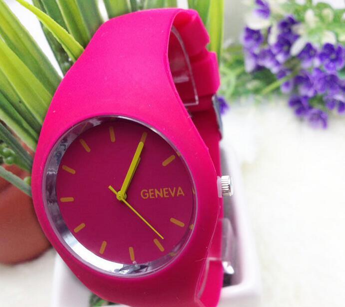 85c62122e7d7 10 colores deporte ginebra del cuarzo relojes silicona reloj análogo mejor  para el regalo del amor en Relojes de mujer de Relojes en AliExpress.com ...