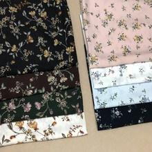 2019 new printed clothing fabric thin section soft retro rural garden dress diy fabric explosion new polyester printed cloth(China)