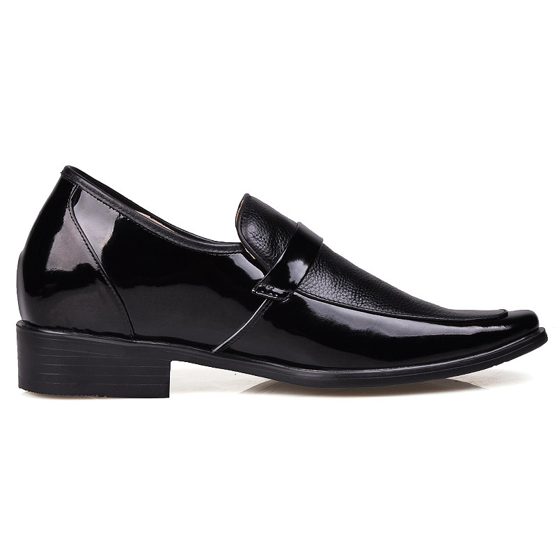 6ba01887390 4688 Leather Men Dress Low Heel Comfort Elevator Shoes 2.75 inches taller  -in Women s Flats from Shoes on Aliexpress.com