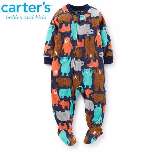 6b382531397f Baby rompers Polar fleece bag feet pajama pants Baby toddler long ...