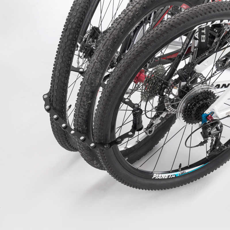 ROCKBROS Password Sepeda Kunci Sepeda Mini Portabel Keamanan Tinggi Tahan Bor Lock Anti Pencurian Silinder MTB Sepeda Aksesoris