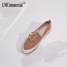 Flat sole single shoe women 2019 new autumn women's shoes trend loafer shoes Korean version thick sole students muffin shoes
