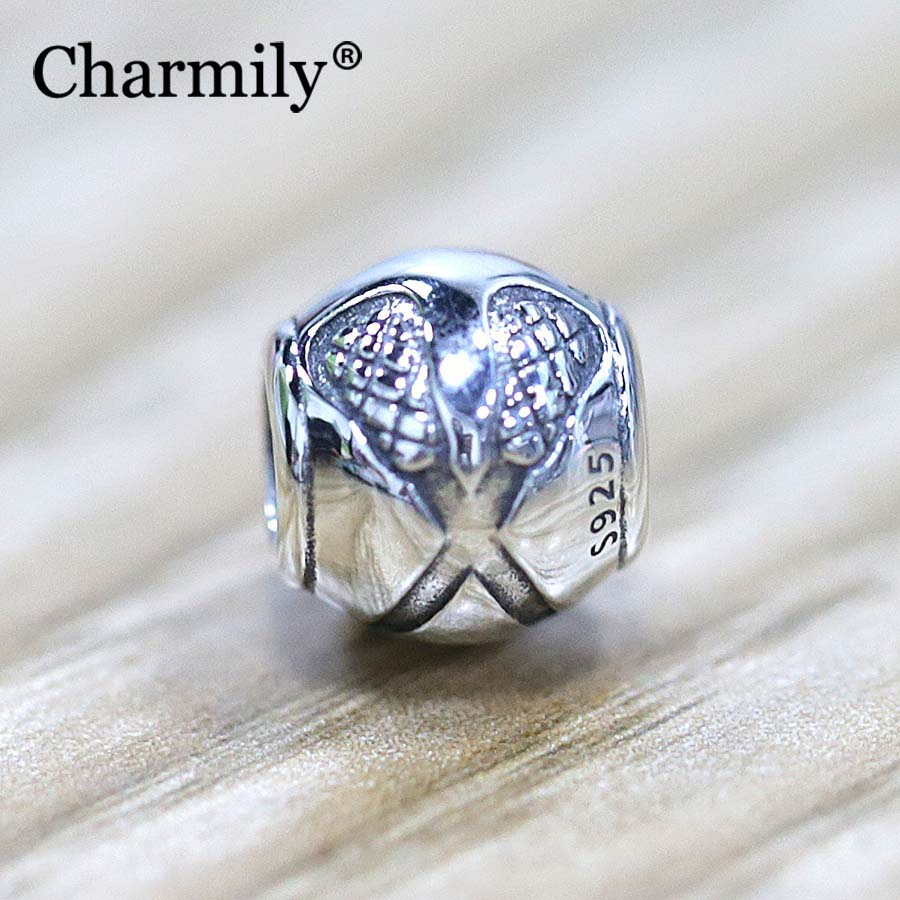 Charmily Jewelry 925 Sterling Silver Lacrosse Ball Charm Bead Diy Fits  Original Pandora Charm Bracelet(