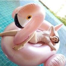 Flamingo Design Rose Gold Pool Float