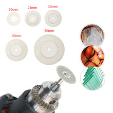 Dremel Accessories Diamond Grinding Wheel Saw 20-50MM Mini Circular Saw Cutting Disc Diamond Disc For Dremel Rotary Tools(China)