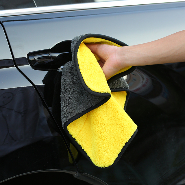 1pc/2pcs Absorbent Microfiber Towel Car Cleaning Drying Cloth Car Care Cloth Detailing Car Polishing Wash Plush Towel For Toyota