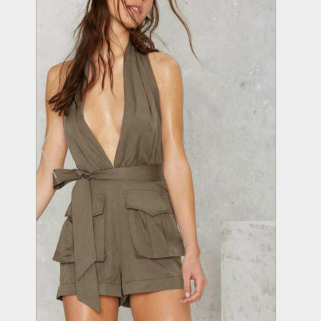 42f73212ee8d6 Rompers Womens Jumpsuit Shorts Combishort Barboteuse Casual Femme Summer  Short Plus Size One Piece Outfit Sexy
