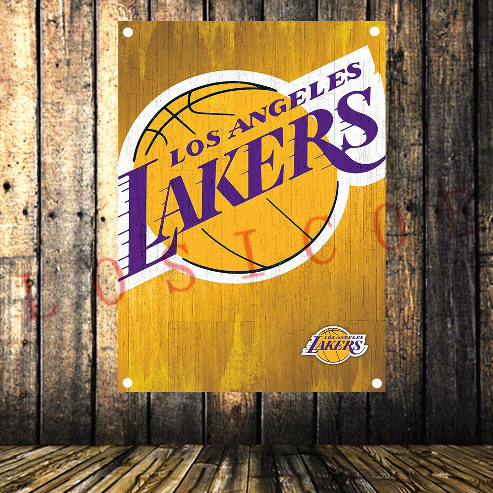 Basketball NBA team team logo poster cloth painting shabby chic flag banner Wall Sticker tapestry Boy room home background decor image