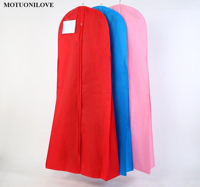 Longueur 180 cm De Mariage Robe Sac Vêtements Couverture Non-tissé Couvercle Anti-Poussière Sacs À Vêtements De Mariée Robe Sacs Pour Le Mariage robe Couverture M0805